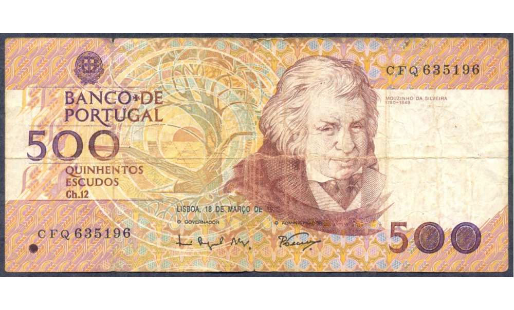 Billete de Portugal 500 Escudos (1993)  - Numisfila