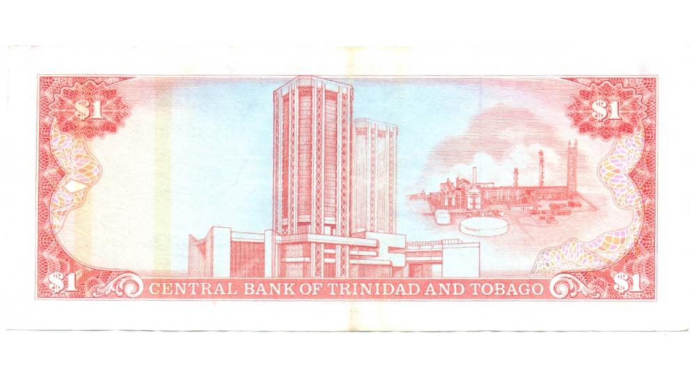 Billete de Trinidad y Tobago 1 Dólar de 1985  - Numisfila
