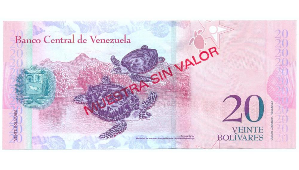 Muestra Sin Valor Billete 20 Bolivares Marzo 2007 #1791  - Numisfila