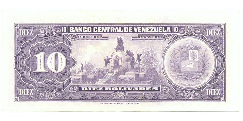 Billete 10 Bolivares 1974 B8 Serial B15761477  - Numisfila