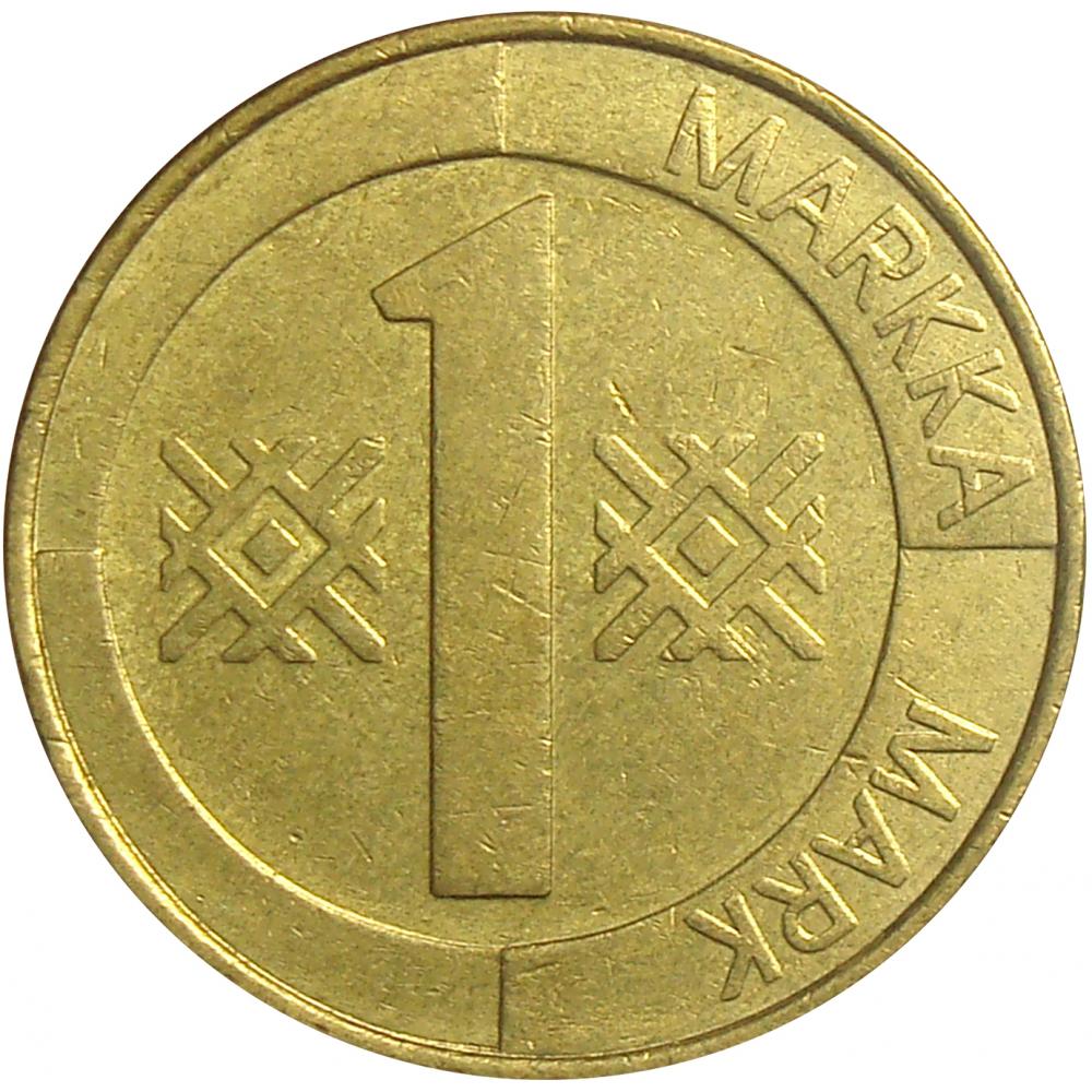 Moneda Finlandia 1 Marco 1993-1997  - Numisfila