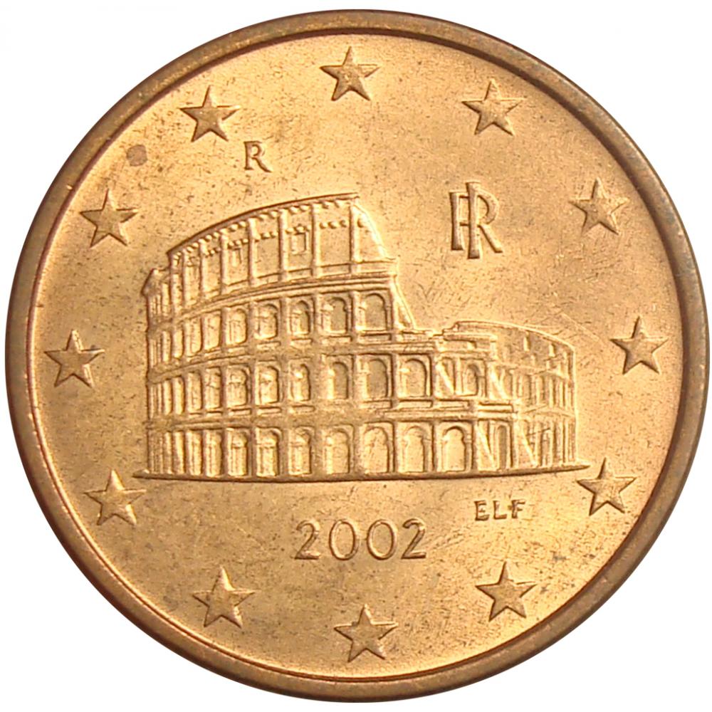 Moneda Italia 5 Centavos de Euro 2002  - Numisfila