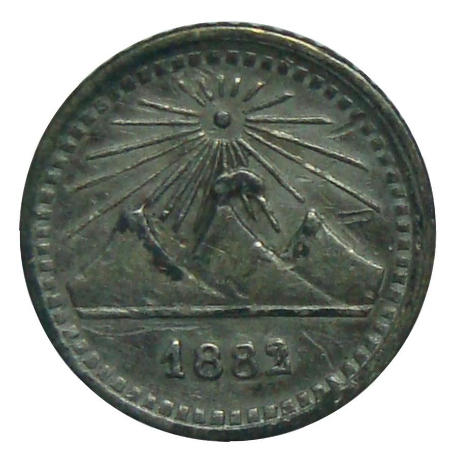 Moneda Plata Guatemala ¼ Real 1882  - Numisfila