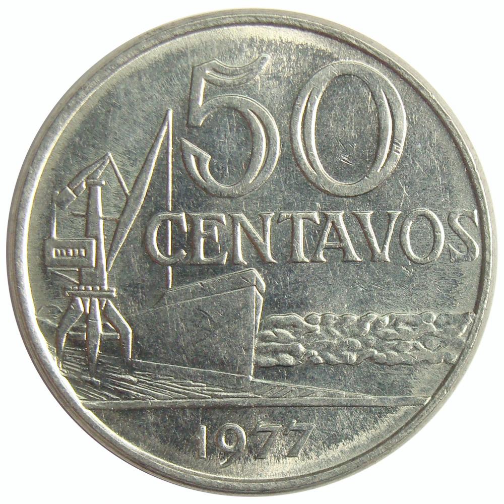 Moneda Brasil 50 Centavos 1976-1979  - Numisfila