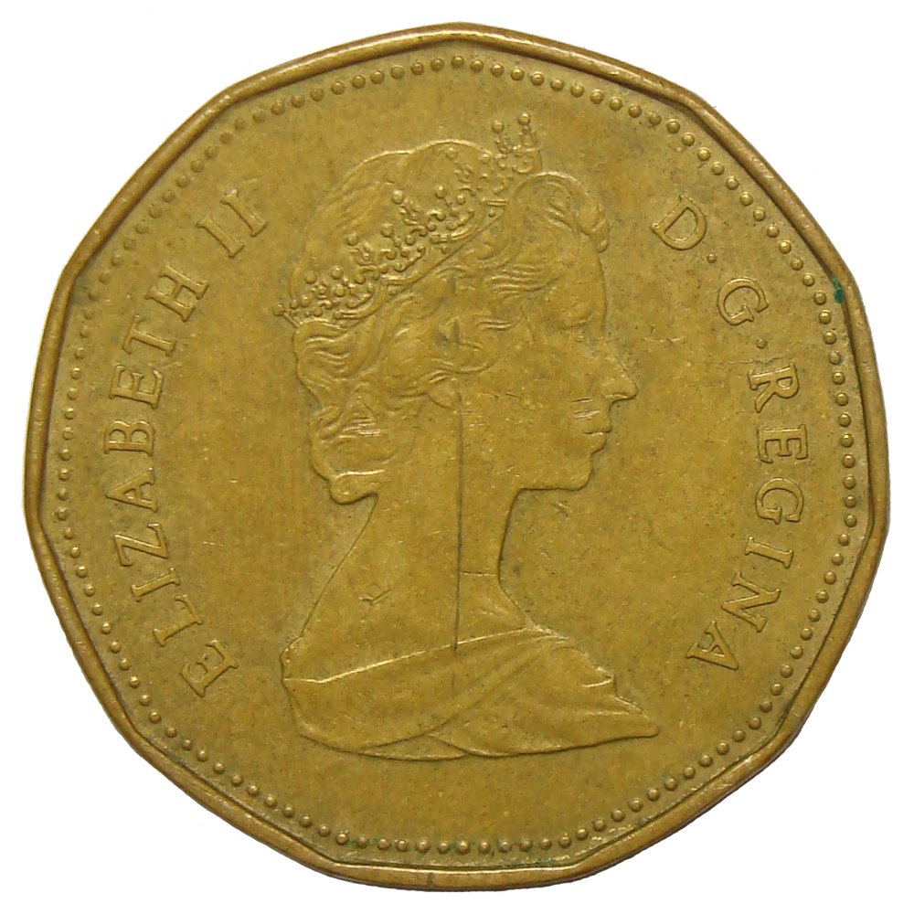 Moneda Canadá 1 Dólar 1987-1989  - Numisfila