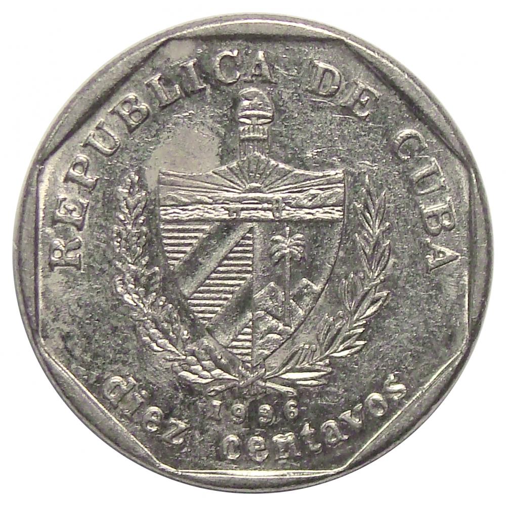 Moneda Cuba 10 Centavos 1996-2009  - Numisfila
