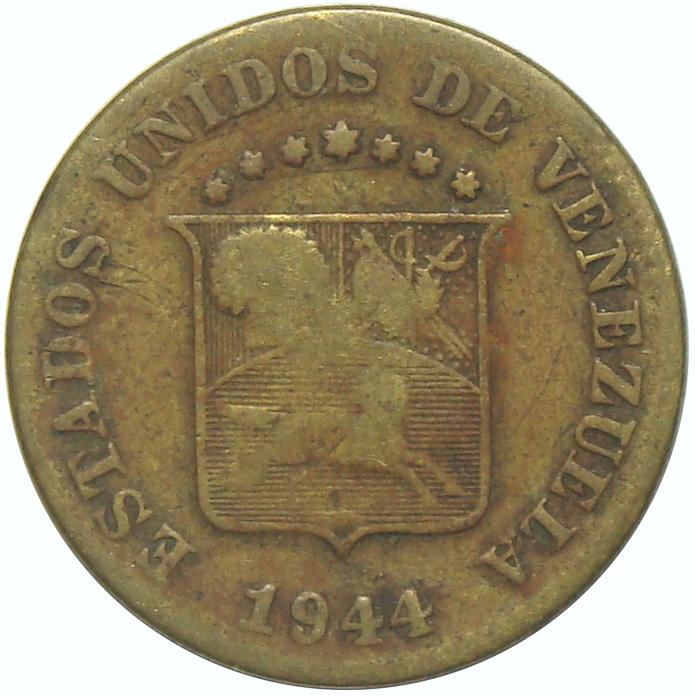 Moneda 5 Céntimos de 1944 - Puya Amarilla   - Numisfila
