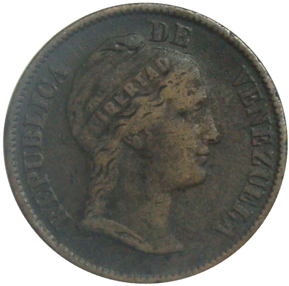 Moneda Centavo Monaguero 1862 Libertad  - Numisfila