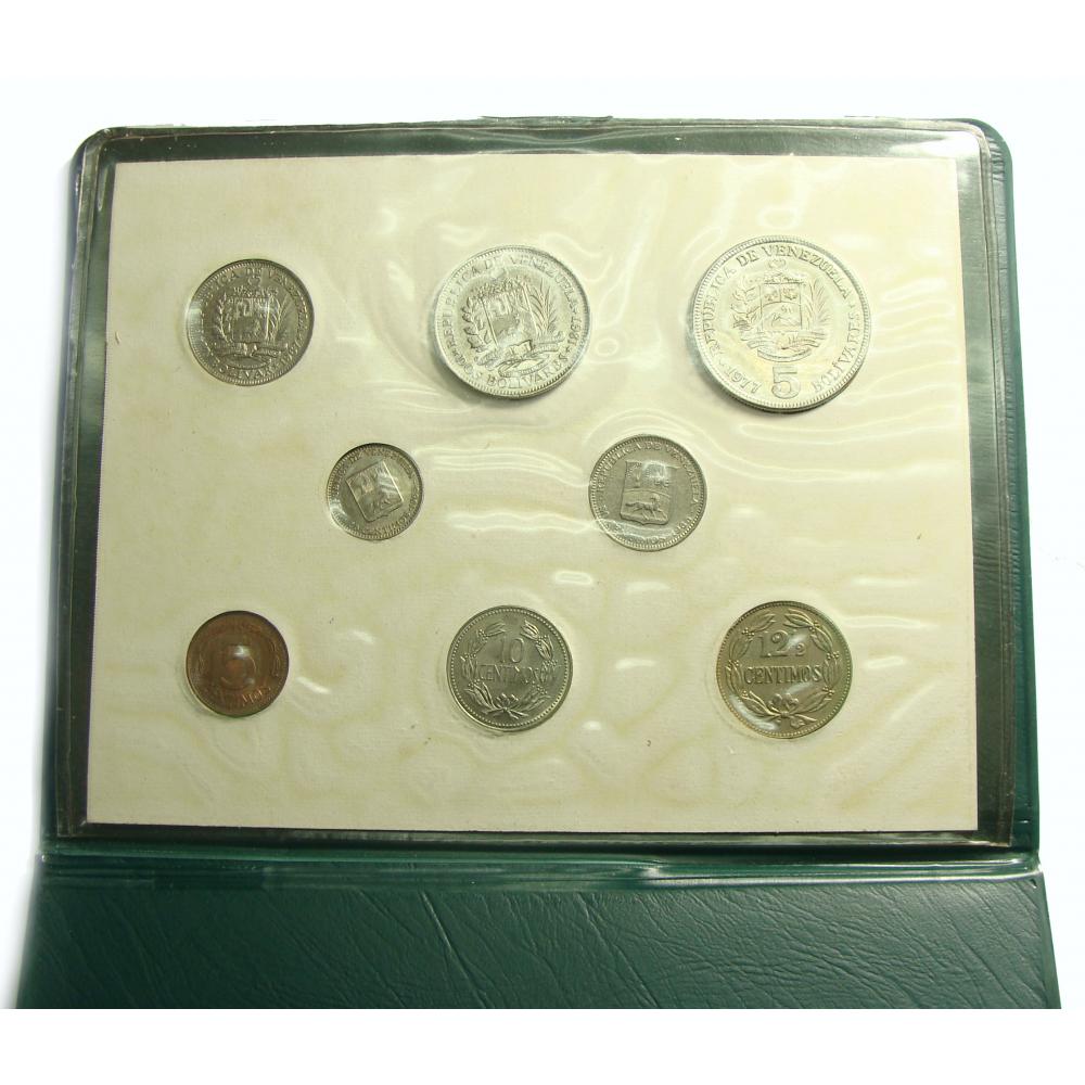 Souvenir 8 Monedas 1958/77 Banco Industrial Venezuela  - Numisfila