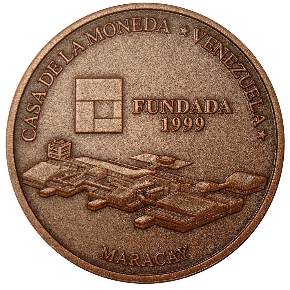 Moneda Bronce 3000 Bolívares 2001 Casa de la Moneda Maracay  - Numisfila