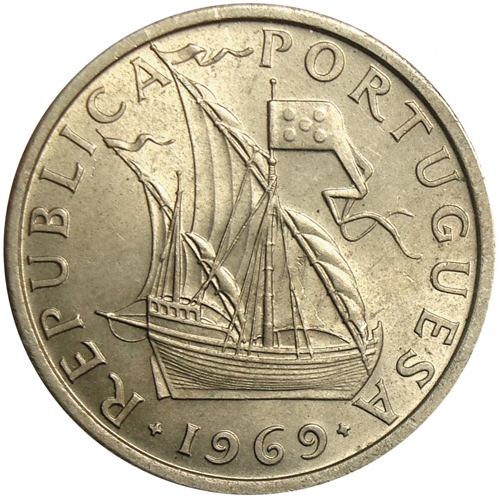 Moneda Portugal 5 Escudos 1969 - 1984  - Numisfila