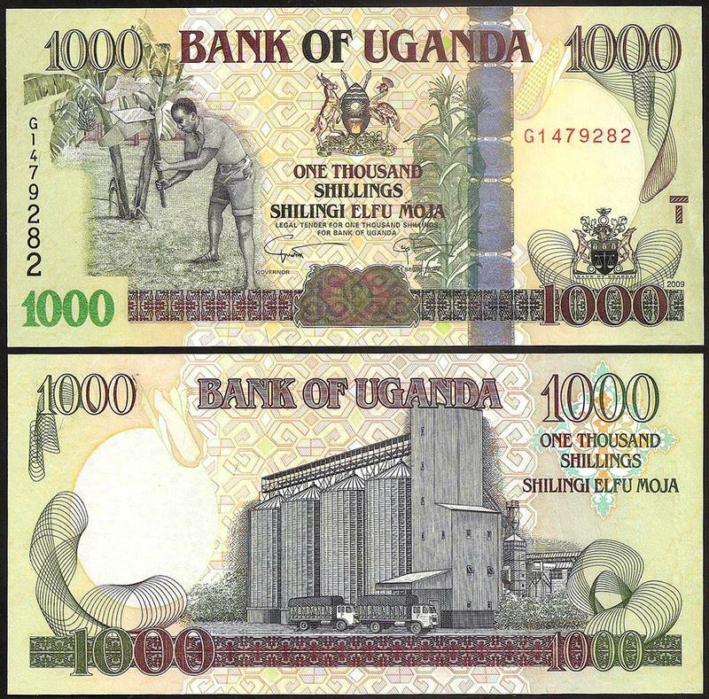 Billete Uganda 1000 Shillings 2009  - Numisfila