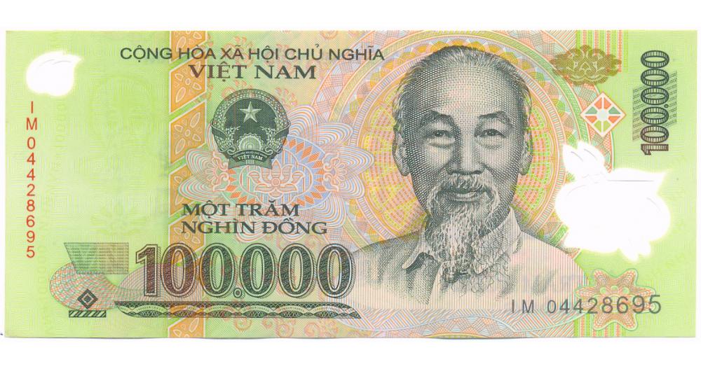 Billete de Vietnam 100.000 Dong de 2010  - Numisfila