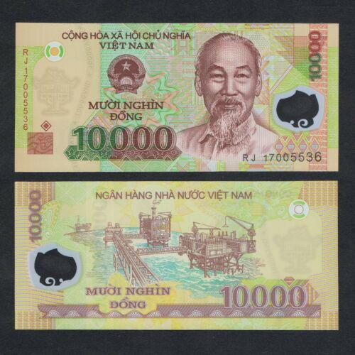 Billete Plastico Vietnam 10.000 Dong 2014  - Numisfila